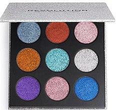 Düfte, Parfümerie und Kosmetik Lidschattenpalette mit Glitzer - Makeup Revolution Pressed Glitter Palette Illusion