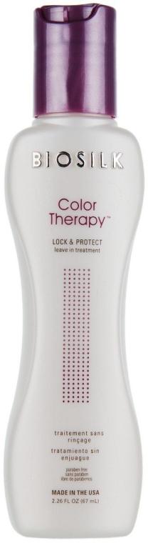 Farbschutzconditioner für coloriertes Haar ohne Ausspülen - Biosilk Color Therapy Lock and Protect Leave In Treatment — Bild N2