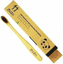Düfte, Parfümerie und Kosmetik Bambuszahnbürste für Kinder weich braun - Zuzii Kids Soft Toothbrush