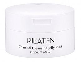 Düfte, Parfümerie und Kosmetik Feuchtigkeitsspendende, pflegende und reinigende Gesichtsmaske mit Papain und Bambuskohleextrakt - Pilaten Charcoal Cleansing Jelly Mask Face Mask