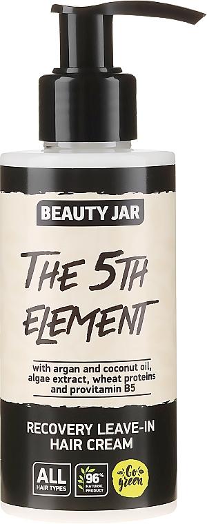 Regenerierende Haarcreme mit Arganöl, Kokosöl und Vitamin B5 - Beauty Jar Recovery Leave-In Hair Cream