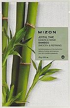Düfte, Parfümerie und Kosmetik Tuchmaske mit Bambusextrakt - Mizon Joyful Time Essence Mask Bamboo