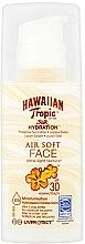Düfte, Parfümerie und Kosmetik Ultra leichte feuchtigkeitsspendende Sonnenschutzlotion für das Gesicht SPF 30 - Hawaiian Tropic Silk Hydration Air Soft Face Protective Sun Lotion SPF 30