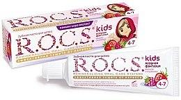 Düfte, Parfümerie und Kosmetik Schützende Kinderzahnpasta gegen Karies mit Himbeer- und Erdbeergeschmack 4-7 Jahre - R.O.C.S. Kids Raspberry and Strawberry