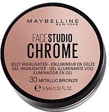 Düfte, Parfümerie und Kosmetik Gel Highlighter - Maybelline Face Studio Chrome Jelly Highlighter