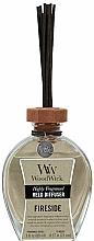 Düfte, Parfümerie und Kosmetik Raumerfrischer Fireside - WoodWick Reed Diffuser Fireside