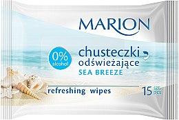 Düfte, Parfümerie und Kosmetik Erfrischende Feuchttücher Meeresbrise 15 St. - Marion