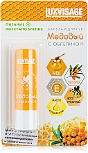 Düfte, Parfümerie und Kosmetik Pflegender und regenerierender Lippenbalsam mit Sanddorn und Honig - Luxvisage