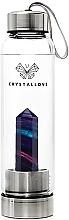 Düfte, Parfümerie und Kosmetik Wasserflasche mit Fluoritkristall 500 ml - Crystallove