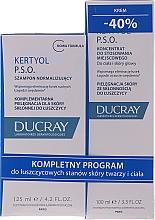 Düfte, Parfümerie und Kosmetik Haarpflegeset - Ducray Kertyol P.S.O. (Shampoo 100ml + Haarkonzentrat gegen Schuppen 125ml)