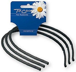 Haarreifen schwarz 3 St. - Top Choice — Bild N1