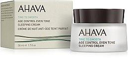 Düfte, Parfümerie und Kosmetik Ausgleichende Anti-Aging Nachtcreme - Ahava Age Control Even Tone Sleeping Cream