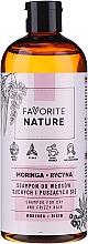 Düfte, Parfümerie und Kosmetik Shampoo für trockenes und lockiges Haar mit Moringa und Ricin - Favorite Nature Shampoo For Dry And Frizzy Hair Moringa & Ricin