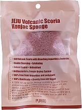 Düfte, Parfümerie und Kosmetik Konjac-Schwamm für das Gesicht mit Vulkanasche - Purito Jeju Volcanic Scoria Konjac Sponge