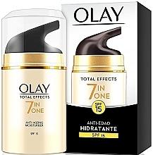 Düfte, Parfümerie und Kosmetik Feuchtigkeitsspendende Anti-Aging Tagescreme SPF 15 - Olay Total Effects Anti-Edad Hidratante SPF15