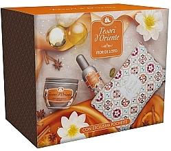 Düfte, Parfümerie und Kosmetik Tesori d`Oriente Fior di Loto - Duftset (Eau de Parfum 100ml + Körpercreme 300ml + Kosmetiktasche)