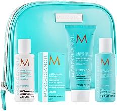 Düfte, Parfümerie und Kosmetik Haarpflegeset - MoroccanOil (Shampoo 70ml + Conditioner 70ml + Haarmaske 75ml + Haaröl 25ml + Kosmetiktasche)
