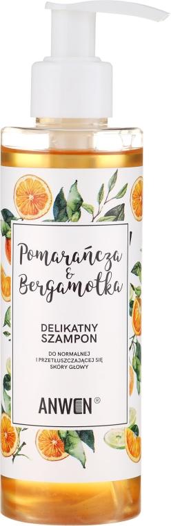 """Sanftes Shampoo für normale und fettige Kopfhaut """"Orange und Bergamotte"""" - Anwen Orange and Bergamot Shampoo"""