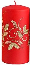 Düfte, Parfümerie und Kosmetik Dekorative Kerze rot 7x14 cm - Artman Amelia