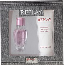 Düfte, Parfümerie und Kosmetik Replay Jeans Spirit! For Her - Duftset (Eau de Toilette 20ml + Körperlotion 100ml)