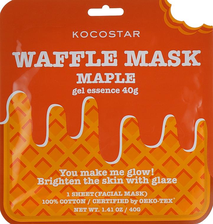 Revitalisierende und feuchtigkeitsspendende Waffel-Tuchmaske mit Zuckerahorn-Extrakt für strahlende Gesichtshaut - Kocostar Maple Waffle Mask