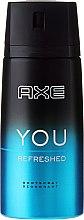 """Düfte, Parfümerie und Kosmetik Antiperspirant Deodorant Spray für Männer """"Action Control"""" - Axe You Refreshed Deodorant Spray"""