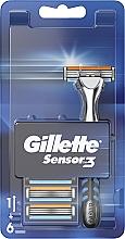 Düfte, Parfümerie und Kosmetik Rasierer mit 6 Ersatzklingen - Gillette Sensor 3