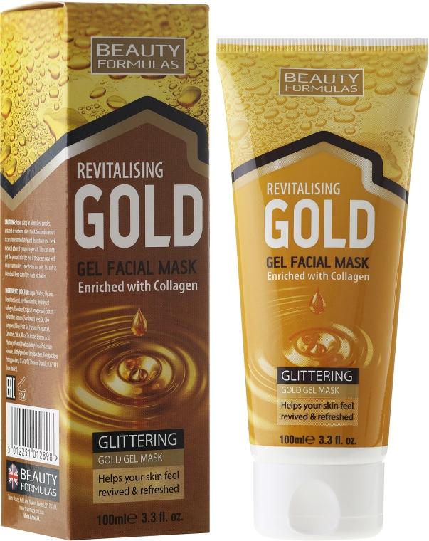 Revitalisierende Gesichtsgel-Maske mit Kollagen - Beauty Formulas Gold Gel Facial Mask