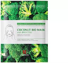 Düfte, Parfümerie und Kosmetik Beruhigende, erfrischende und seboregulierende Tuchmaske mit Brokkoli-Extrakt - Leader Coconut Bio Mask With Broccoli