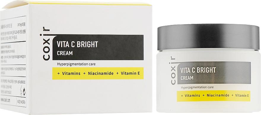 Glättungscreme für das Gesicht mit Vitamin C - Coxir Vita C Bright Cream