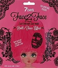 Düfte, Parfümerie und Kosmetik Hydrogel-Gesichtsmaske mit Kakaobohnenextrakt - 7 Days Face2Face Lace Hydrogel Mask Cocoa Beans