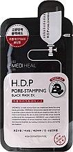 Düfte, Parfümerie und Kosmetik Schwarze Tuchmaske für das Gesicht - Mediheal H.D.P. Pore-Stamping Black Mask EX