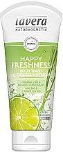 Düfte, Parfümerie und Kosmetik Pflegendes Duschgel mit Bio Limette und Zitronengras - Lavera Happy Freshness Body Wash Lime&Lemongrass