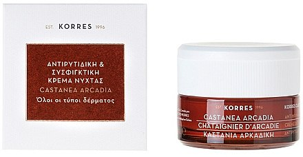 Castanea Arcadia Straffende Tagescreme gegen Falten - Korres Castanea Arcadia Antiwrinkle&Firming Day Cream — Bild N1