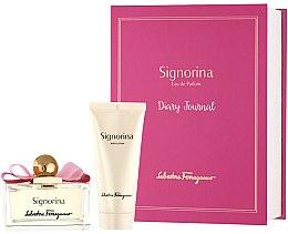 Düfte, Parfümerie und Kosmetik Salvatore Ferragamo Signorina - Duftset (Eau de Parfum/100ml + Körperlotion/100ml +Tagebuch)