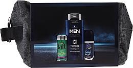 Düfte, Parfümerie und Kosmetik Haarpflegeset - Schwarzkopf Men (Haarpuder für mehr Volumen 10ml + Shampoo 250ml + Deo-Roll-on 50ml + Kosmetiktasche)