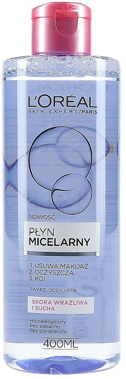Mildes Mizellenwasser für Gesicht, Augen und Lippen - L'Oreal Paris Skin Expert Micellar Water — Bild N1