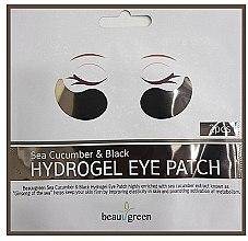 Düfte, Parfümerie und Kosmetik Hydrogel-Augenpatches mit Seegurke und Aktivkohle - BeauuGreen Sea Cucumber Black