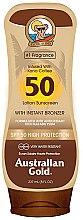 Düfte, Parfümerie und Kosmetik Sonnenschutzlotion mit Bronzer SPF 50 - Australian Gold Bronzer Lotion SPF 50