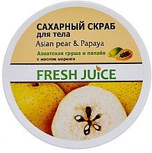 Düfte, Parfümerie und Kosmetik Zuckerpeeling für den Körper Asiatische Birne & Papaya - Fresh Juice Asian Pear & Papaya