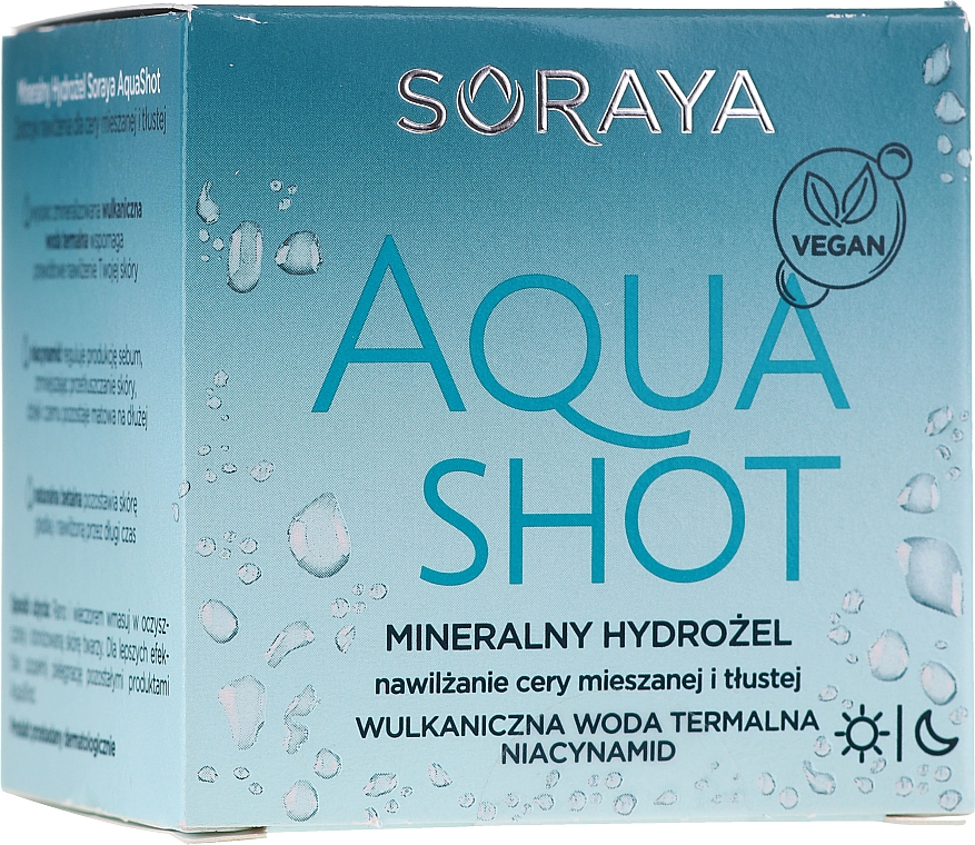 Feuchtigkeitsspendendes Gesichtsgel mit Mineralien für fettige und Mischhaut - Soraya Aquashot