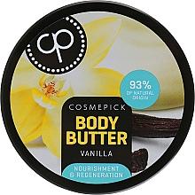 Düfte, Parfümerie und Kosmetik Regenerierende Körperbutter mit Vanilleextrakt - Cosmepick Body Butter Vanilla