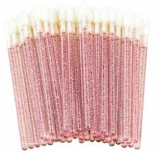 Düfte, Parfümerie und Kosmetik Velour-Applikatoren für Wimpern, Augenbrauen und Lippen rosa mit glanz - Lewer