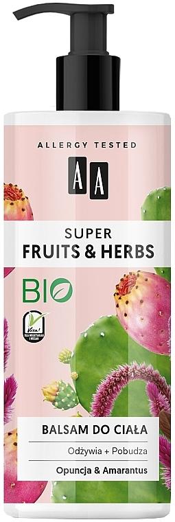 Nährende und stimulierende Körperlotion mit Feigenkaktus und Amaranth - AA Super Fruits & Herbs