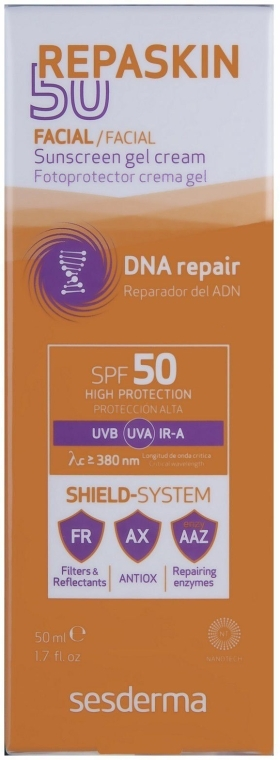 Sonnencreme-Gel SPF 50+ - SesDerma Laboratories Repaskin Sunscreen Gel-Cream SPF 50+ — Bild N2