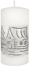 Düfte, Parfümerie und Kosmetik Dekorative Kerze Zylinder mittel 7x14 cm weiß - Artman Ice land