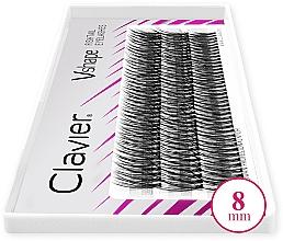 Düfte, Parfümerie und Kosmetik Künstliche Wimpernbüschel 8 mm - Clavier V-Shape Eyelashes