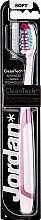 Düfte, Parfümerie und Kosmetik Zahnbürste weich Expert Clean rosa-bordeaux - Jordan Tandenborstel Expert Clean Soft