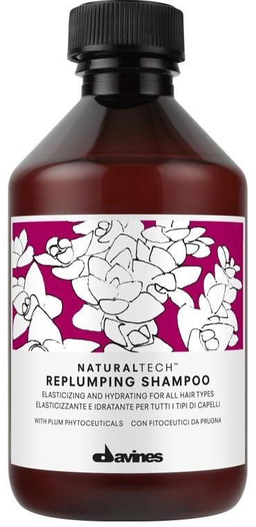 Feuchtigkeitsspendendes Shampoo für mehr Elastizität - Davines Replumping Shampoo — Bild N1