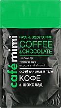 Düfte, Parfümerie und Kosmetik Gesichts- und Körperpeeling mit Kaffee und Schokolade - Cafe Mimi Scrub